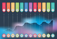 Annual report. Business chart graph of increase. Vector infograp Royalty Free Stock Photo