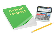 Annual report concept, 3D rendering Royalty Free Stock Images