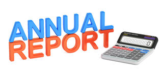 Annual report concept, 3D rendering Stock Photography
