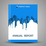 Annual report cover in abstract design Royalty Free Stock Photos