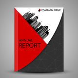 Annual report cover in abstract design Stock Photo