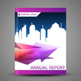 Annual report cover in abstract design Royalty Free Stock Images