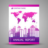 Annual report cover in abstract design Royalty Free Stock Photography