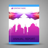 Annual report cover in abstract design Stock Photos