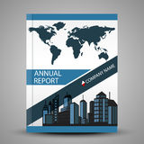 Annual report cover in abstract design Royalty Free Stock Image