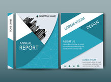 Annual report cover in abstract design Stock Images