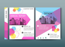 Annual report cover in abstract design Royalty Free Stock Photo