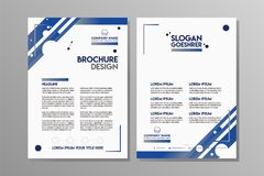 Flyer design. Business brochure template. stock illustration
