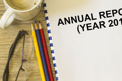 Annual report cover. Concept for annual report book Royalty Free Stock Photo