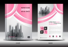 Annual report cover design, brochure flyer template, business advertisement, company profile. Magazine ads, leaflet, book, catalog, infographics vector layout Stock Illustration