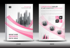Annual report cover design, brochure flyer template, business advertisement, company profile. Magazine ads, leaflet, book, catalog, infographics vector layout Vector Illustration