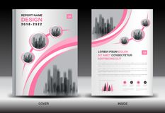 Annual report cover design, brochure flyer template, business advertisement, company profile. Magazine ads, leaflet, book, catalog, infographics vector layout Royalty Free Illustration
