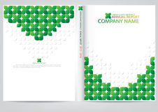 Annual report cover  design Royalty Free Stock Photos
