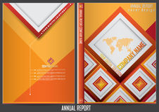 Annual report cover  design Stock Photography