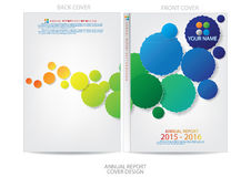 Annual report cover  design Royalty Free Stock Images
