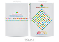 Annual report cover  design Royalty Free Stock Image