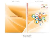Annual report cover  design Stock Image