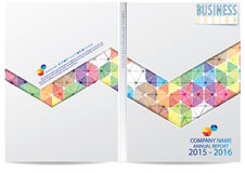 Annual report cover  design Stock Photos