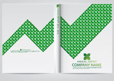 Annual report cover design Stock Images