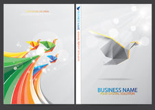 Annual report cover design Royalty Free Stock Photo
