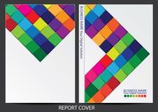 Annual report cover design Stock Photo