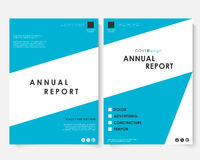 Annual report cover design template vector. Brochure concept presentation website portfolio. Blue layout leaflet Royalty Free Stock Images