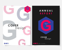 Annual report cover design template vector. Brochure concept presentation website portfolio. Colorfull layout leaflet. Template. Magazine business advertising Royalty Free Stock Photography