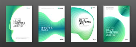 Annual report cover design templates set for business. Good for annual report, magazine cover, poster, company profile cover royalty free illustration