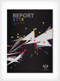 Annual report Cover design vector Stock Images
