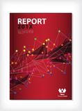 Annual report Cover design vector Royalty Free Stock Photography