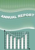 Annual report cover with graph and cifer group Stock Image