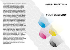 Annual Report. The cover illustration of the Annual Report sided A4 Stock Photo