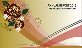 Annual report cover. A layout for yearly reports for businesses in line with flowers or  farms or simply nature Royalty Free Stock Photography