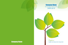 Annual Report Cover Template Royalty Free Stock Photography