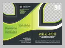 Annual Report Cover Template Design Royalty Free Stock Photo