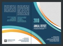 Annual Report Cover Template Design royalty free illustration