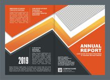Annual Report Cover Template Design Stock Photography