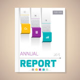 Annual Report Cover vector illustration. Cover Annual Report numbers 2015, vector illustration vector illustration