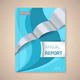Annual Report Cover vector illustration. Cover Annual Report numbers 2015, vector illustration royalty free illustration