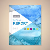 Annual Report Cover vector illustration. Cover Annual Report numbers 2015, vector illustration stock illustration