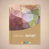 Annual Report Cover vector illustration Stock Photos