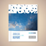 Annual Report Cover vector illustration Stock Images