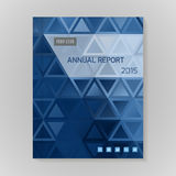 Annual Report Cover vector illustration Royalty Free Stock Photo