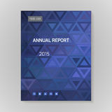 Annual Report Cover vector illustration Royalty Free Stock Image