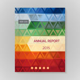 Annual Report Cover vector illustration Stock Photo