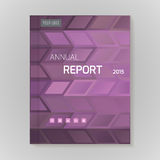 Annual Report Cover vector illustration Royalty Free Stock Photography