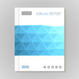 Annual Report Cover vector illustration Stock Image