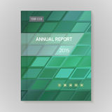 Annual Report Cover vector illustration Stock Photography