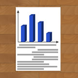 Annual report file. With color infograph trend, vector illustration Royalty Free Stock Photos
