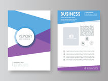 Annual report, flyer, brochure Stock Photo